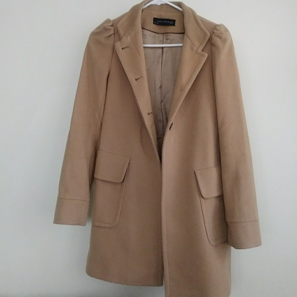 33cc19b70 🎉Ships Now! ZARA Woman Tan Wool Coat XS